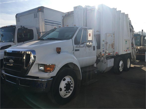 USED 2008 FORD F750 GARBAGE TRUCK (PACKER) TRUCK #519515
