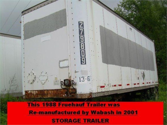 USED 1988 FRUEHAUF FGGL28W5 STORAGE TRAILER #556179