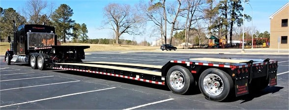 NEW 2019 RAMPANT 40 TON DOUBLE DROP LOWBOY TRAILER DOUBLE DROP TRAILER #569894