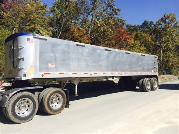 2007 TRAVIS ALUMINUM FRAMELESS DUMP End Dump Trailer