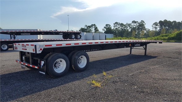 NEW 2019 FONTAINE FONTAINE 53 INFINITY COMBO AIR RIDE SLIDE FLATBED FLATBED TRAILER #600455